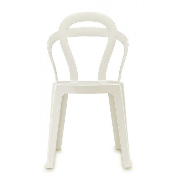 Silla diseño Titi blanco brillo