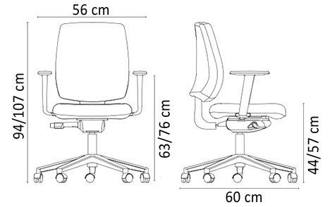 silla oficina altura asiento