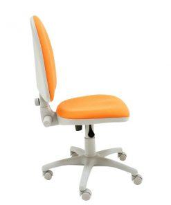 Silla-escritorio-Torino-Gris-naranja-sin-brazos-lateral