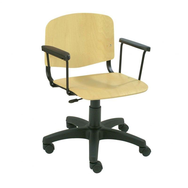 Silla giratoria de madera iso la silla de claudia for Silla giratoria escritorio