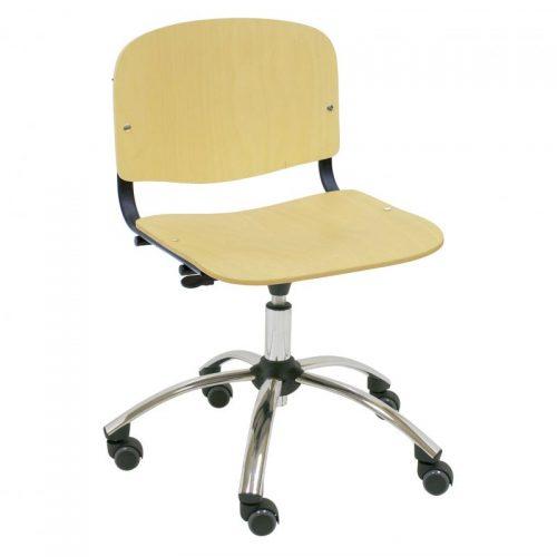 silla giratoria de madera Iso