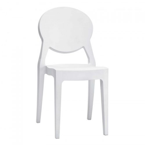 Silla Igloo blanco brillo