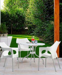 Sillón de exterior Ola y mesa plegable de exterior Ribalto
