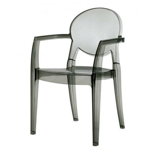 sillón Igloo policarbonato fume
