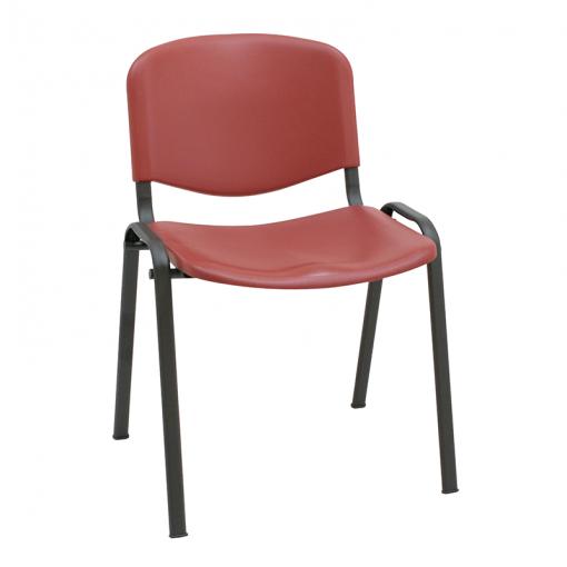 silla-confidente-iso-chasis-negro-burdeos
