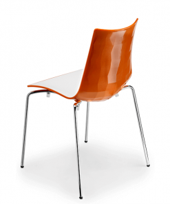 silla-diseño-zebra-bicolor-color-naranja