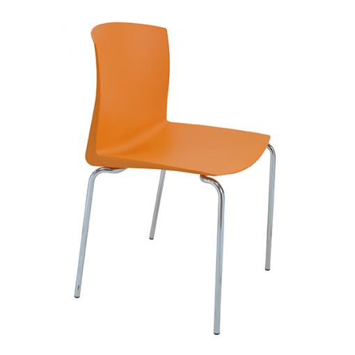 silla-pull-4-patas-color-naranja