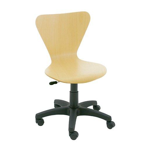 Silla giratoria de madera jacobsen la silla de claudia for Sillas giratorias para escritorio