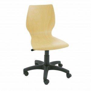 silla giratoria de madera Calipso