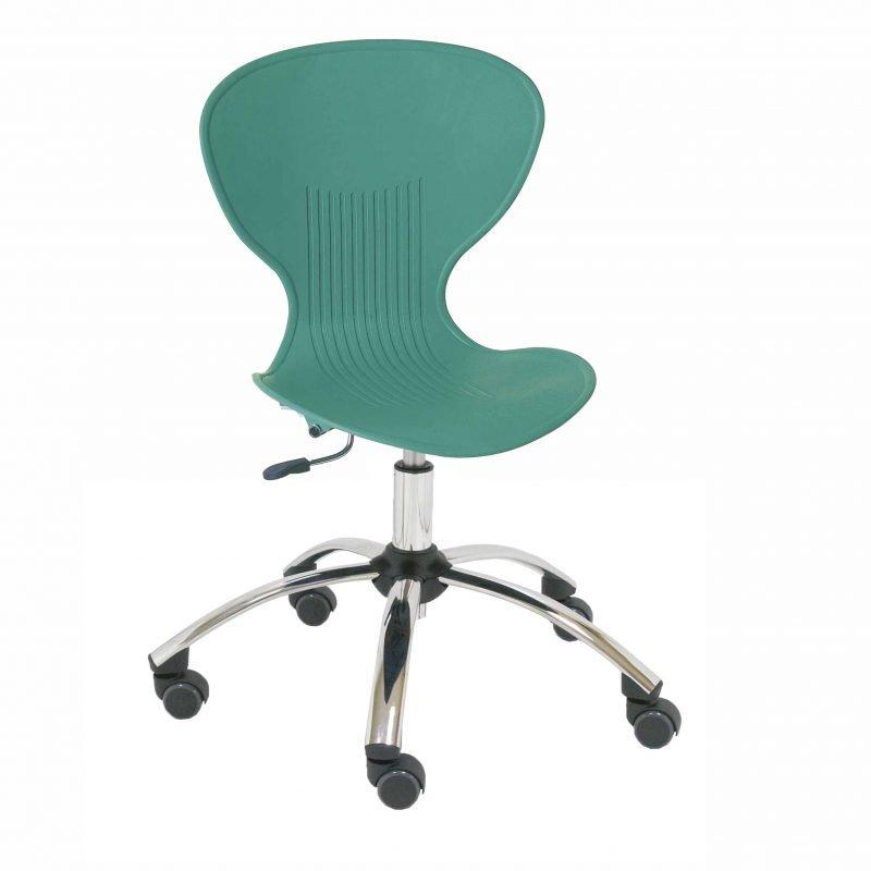 Silla giratoria de pl stico bunny la silla de claudia for Sillas de plastico