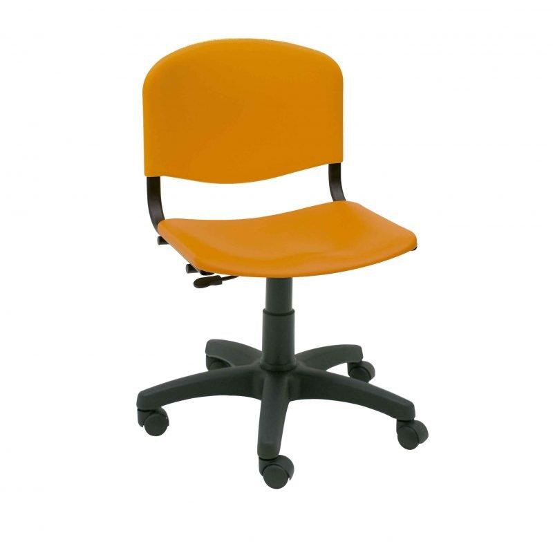 Silla de escritorio giratoria de pl stico iso la silla for Silla giratoria para escritorio