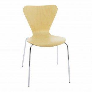 silla de madera Jacobsen