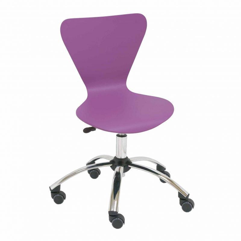 Silla giratoria de madera jacobsen la silla de claudia - Ruedas para sillas giratorias ...