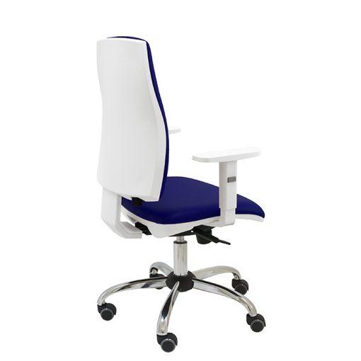 silla-ergonomica-oficina-job-blanca-con-base-cromada