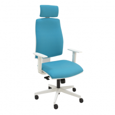 silla-giratoria-blanca-ergonomica-Job-blanco-color-turquesa