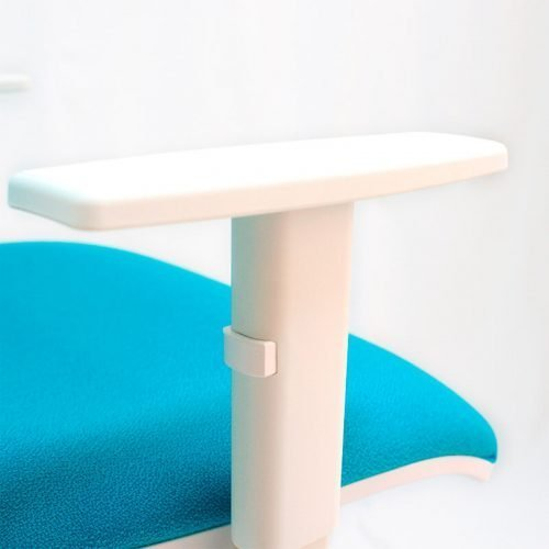 silla-giratoria-blanca-ergonomica-Job-blanco-color-turquesa-brazos-regulables