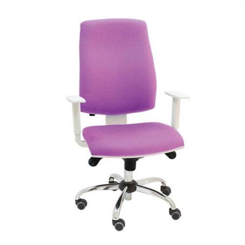 silla-giratoria-blanca-job-tapizado-morado-base-cromada-la-silla-de-claudia