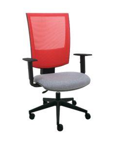 silla escritorio malla roja