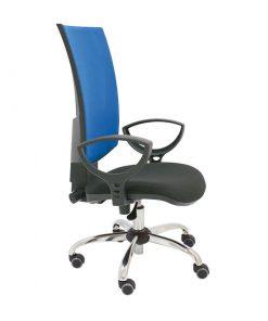 silla-giratoria-flesh-malla-roja-tapizado-asiento-negro-sin-brazos