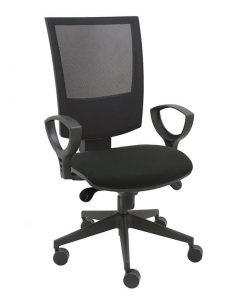 silla-giratoria-flesh-mecanismo-syncro-malla-negra-tapizado-asiento-negro