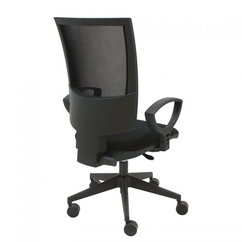 silla-giratoria-flesh-mecanismo-syncro-malla-negra-tapizado-asiento-negro-trasera