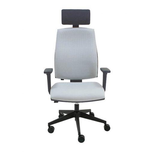 silla-giratoria-negrajob-tapizado-gris-base-negra-la-silla-de-claudia