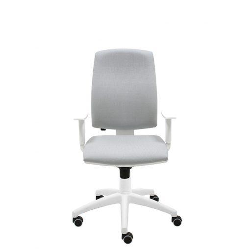 silla-giratoria-oficina-blanca-ergonomica-modelo-Job-gamma-gris
