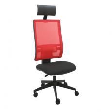 silla-giratoria-passion-trasera-con-cabezal-roja