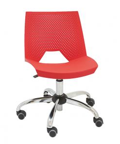silla-giratoria-strike-polipropileno-perforado-colo-rojo-base-cromada