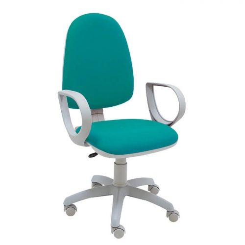 silla-giratoria-torino-turquesa-con-brazos-contacto-permanente-estructura-gris