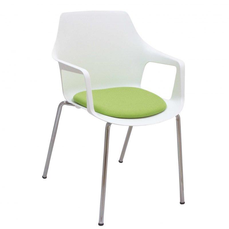 Sill n fijo para oficinas vesper tapizado la silla de for Repuestos sillas de oficina