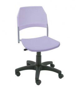 silla giratoria de plástico Kali