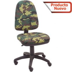 Silla Giratoria Camuflaje con base color negra