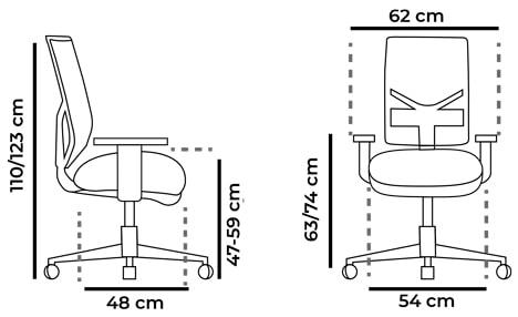 medidas-silla-ergonomica-blanca-play