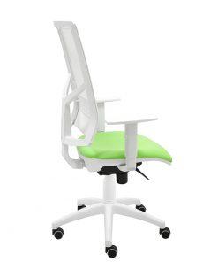 silla-giratoria-ergonomica-blanca-Play-verde