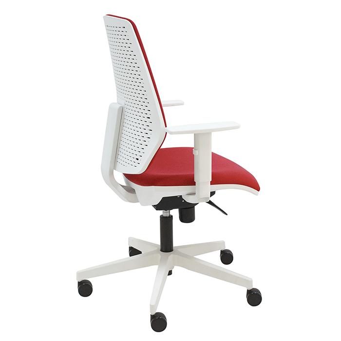 Silla giratoria hexa t blanca para oficina o escritorio for Sillas blancas para escritorio
