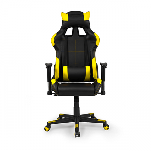 silla-gaming-silverstone-color-amarilla-calidad-premium-frontal