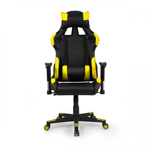 silla-gaming-silverstone-color-amarilla-calidad-premium-frontal