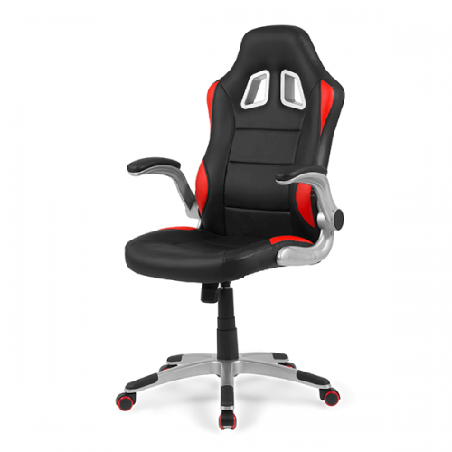 sillas-gaming-mugello-roja-gamer-frontal