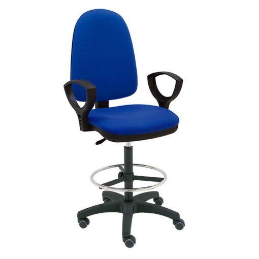 taburete-giratorio-azul-base-negra-ruedas-goma
