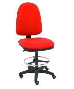 taburete-giratorio-torino-rojo-base-negra-ruedas-goma