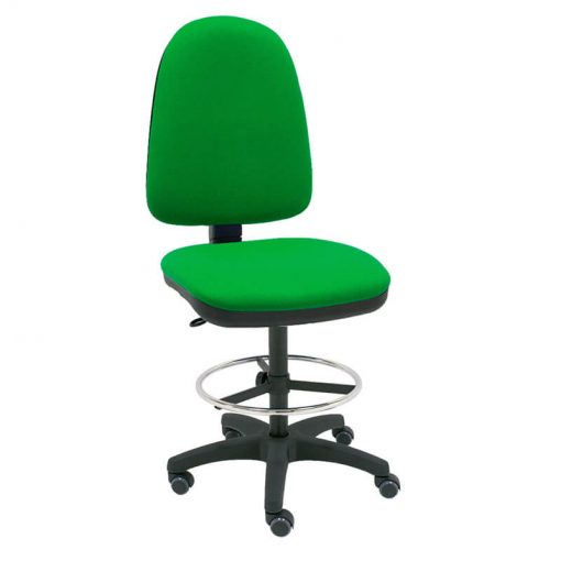 taburete-giratorio-torino-verde-base-negra-ruedas-goma