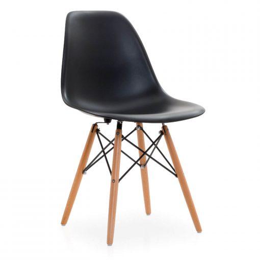 silla estilo nordico inspirada en eames negra