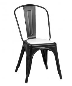 silla-estilo-industrial-tolix-negro-mate-con-cojin-blanco
