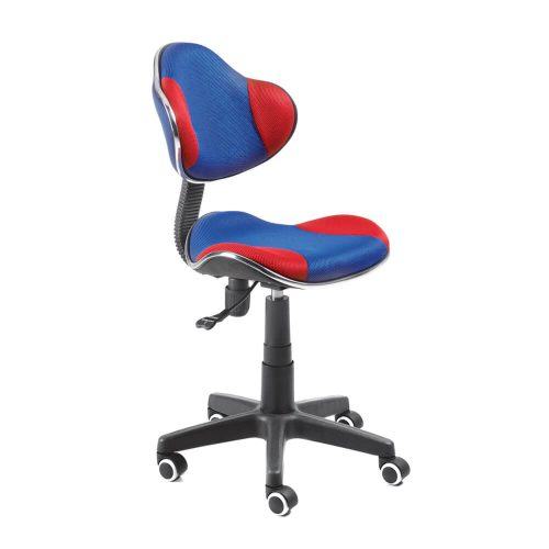 silla giratoria barcelona azul rojo