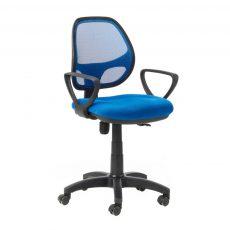 silla giratoria malla bari azul