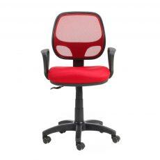 silla giratoria malla bari rojo