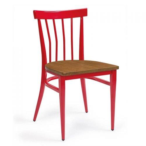 BALTIMORE-silla-acero-pintado-rojo-asiento
