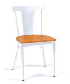 DAKOTA-silla-acero-blanco-asiento-madera-laminado