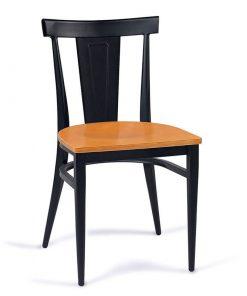 DAKOTA-silla-acero-negro-asiento-madera-laminado